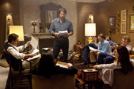 Tony briefs the six escapees on their roles from the Warner Bros. Pictures film Argo
