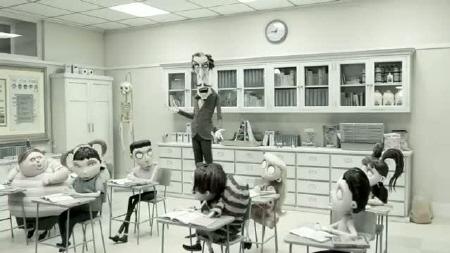 Mr. Rzykruski speaks to his science class from the Walt Disney Pictures film Frankenweenie