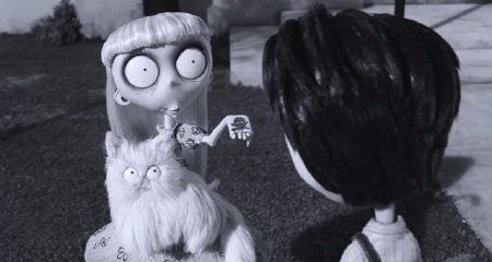 Weird Girl and Mr. Whiskers make a prediction for Victor from the Walt Disney Pictures film Frankenweenie