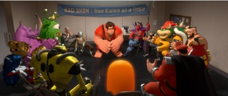 Bad Anon meeting from the Walt Disney Animation Studios Film Wreck It Ralph