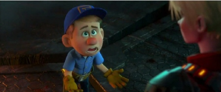 Fix it Felix and Calhoun from the Walt Disney Animation Studios Film Wreck It Ralph