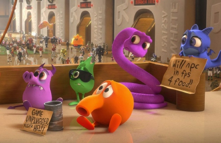 Qbert and friends from the Walt Disney Animation Studios Film Wreck It Ralph
