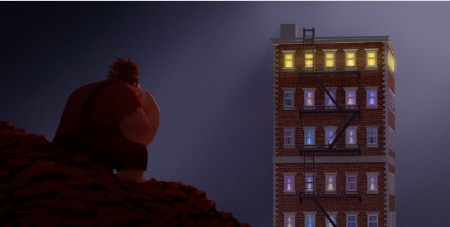 Ralph in the dump from the Walt Disney Animation Studios Film Wreck It Ralph