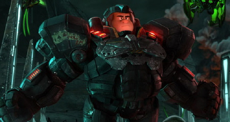 Ralph in Heros Duty from the Walt Disney Animation Studios Film Wreck It Ralph
