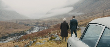 M and James Bond in the moors from the MGM film Skyfall