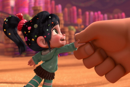 Vanellope and Ralph from the Walt Disney Animation Studios Film Wreck It Ralph