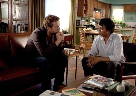 Rafe Spall and Irrfan Kahn from the Fox 2000 Pictures film Life of Pi