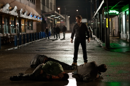 Tom Cruise beats up some punks from the Paramount Pictures film Jack Reacher