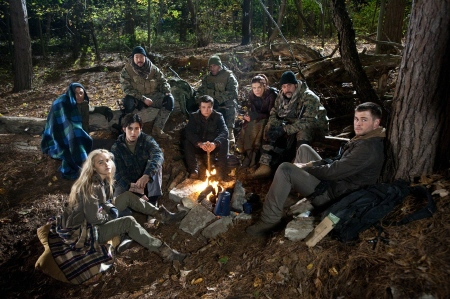 Wolverines around the campfire from the MGM film Red Dawn 2012