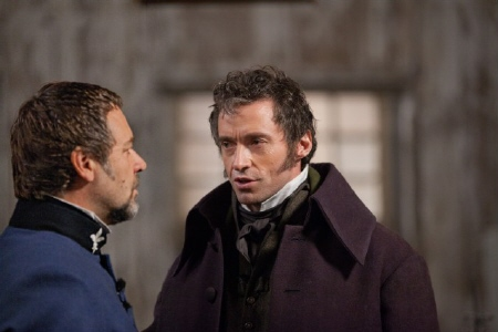 Javert faces off against Jean Valjean from the Universal Pictures film Les Miserables
