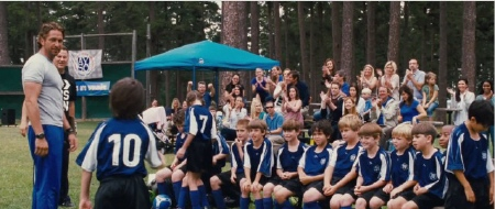 Gerard Butler coaches a soccer team from the Millennium Films movie Playing for Keeps