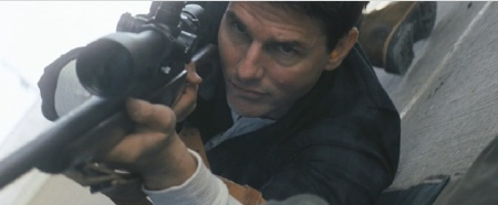 Tom Cruise as a sniper from the Paramount Pictures film Jack Reacher