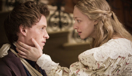 Marius and Cosette in love from the Universal Pictures film Les Miserables