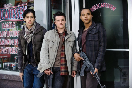Josh Peck, Josh Hutcherson, and Connor Cruise fail to hide from the MGM film Red Dawn 2012