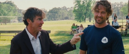Dennis Quaid and Gerard Butler from the Millennium Films movie Playing for Keeps