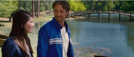 Jessica Biel and Gerard Butler from the Millennium Films movie Playing for Keeps