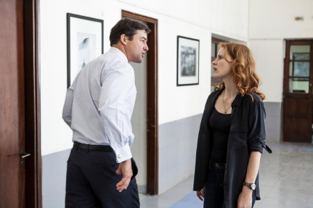 Kyle Chandler and Jessica Chastain from the Annapurna Pictures film Zero Dark Thirty