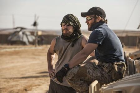 Chriss Pratt and Joel Edgerton from the Annapurna Pictures film Zero Dark Thirty