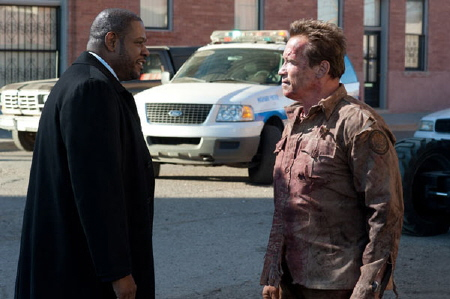 Forrest Whittaker and Arnold Schwarzenegger from the Di Bonaventure Films movie The Last Stand
