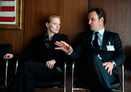 Jessica Chastain and Jason Clarke from the Annapurna Pictures film Zero Dark Thirty