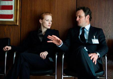 Jessica Chastain and Jason Clarke from the Annapurna Pictures film Zero Dark Thirty