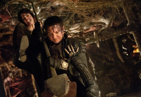 Hansel and Gretel behead a witch from the Paramount Pictures film Hansel and Gretel Witch Hunters