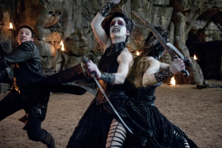 Hansel fights siamese witch  from the Paramount Pictures film Hansel and Gretel Witch Hunters