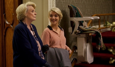 Maggie Smith and Sheridan Smith from the BBC Films movie Quartet