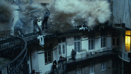 CIA safe house explodes  from the 20th Century Fox film A Good Day to Die Hard