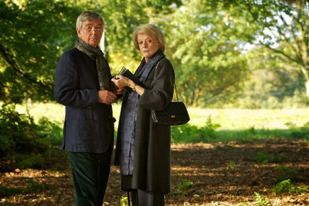 Tom Courtenay and Maggie Smith from the BBC Films movie Quartet