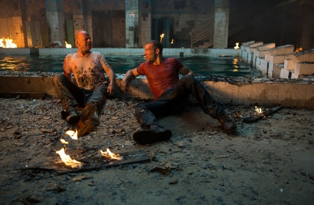 John and Jack have a bonding moment  from the 20th Century Fox film A Good Day to Die Hard