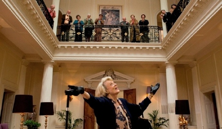 Maggie Smith gets cheers from the BBC Films movie Quartet