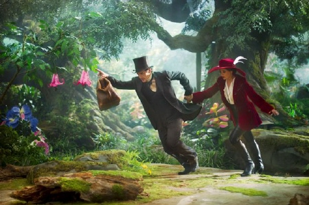 James Franco and Mila Kunis from the Disney film Oz the Great and Powerful