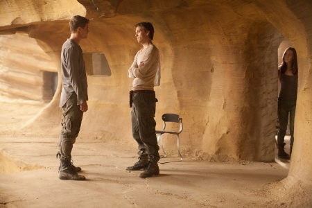 Jake Abel and Max Irons face off over Saoirse Ronan from the Chockstone Pictures film The Host
