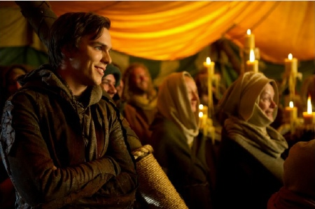 Jack wearing a Medieval hoodie from the Warner Bros. Pictures film Jack the Giant Slayer