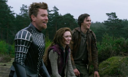 laughing at the dead giant from the Warner Bros. Pictures film Jack the Giant Slayer