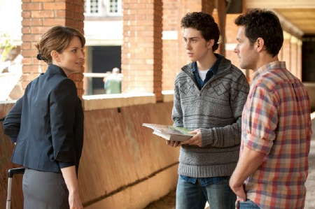 Tina Fey, Nat Wolff, and Paul Rudd in the Focus Features film Admission