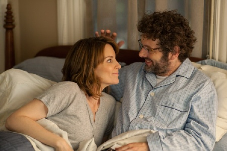 Tina Fey and Michael Sheen in the Focus Features film Admission