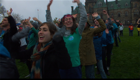 Canadian protestors from the Rob Stewart documentary Revolution
