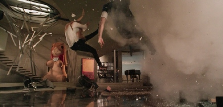 House explodes from the Marvel Studios film Iron Man 3