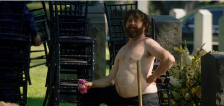 Alan digs a drave from the Legendary Pictures film The Hangover Part 3