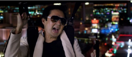 Chow skydiving from the Legendary Pictures film The Hangover Part 3
