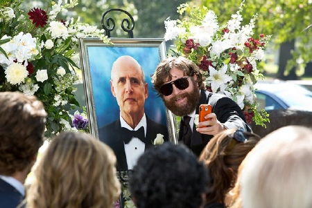 Alan and his father at the funeral from the Legendary Pictures film The Hangover Part 3