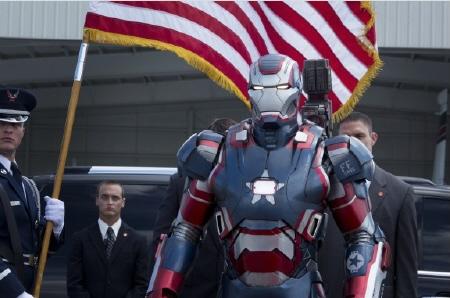 Iron Patriot from the Marvel Studios film Iron Man 3