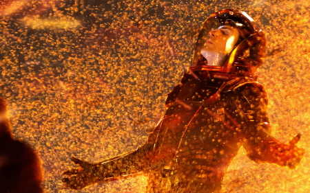 Spock in the volcano from the Paramount Pictures film Star Trek Into Darkness