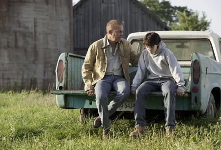 Jonathan Kent and Young Clark in the Warner Bros. film Man of Steel 2013