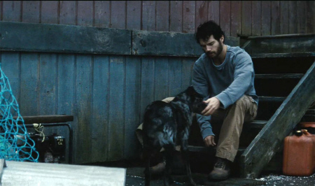 Clark and the littlest hobo in the Warner Bros. film Man of Steel 2013