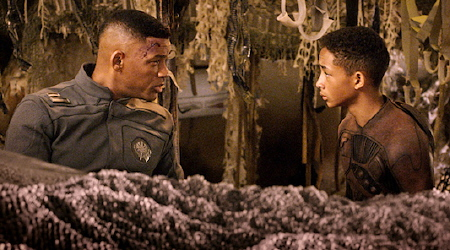 Cypher and Kitai from the Columbia Pictures film After Earth