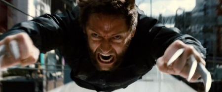 Logan flying from the Marvel Entertainment film The Wolverine
