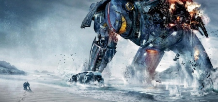 Gipsy Danger dying of sadness from the Warner Bros. Pictures film Pacific Rim